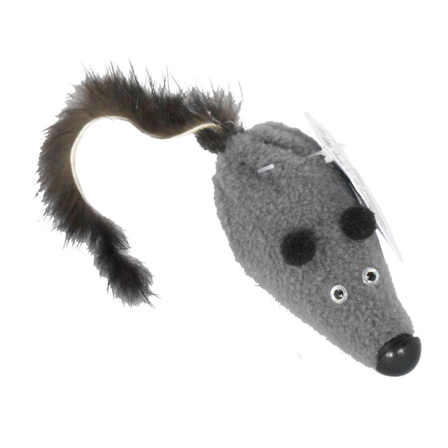 Игрушка Мышь с норковым хвостом, 5 см, GoSi