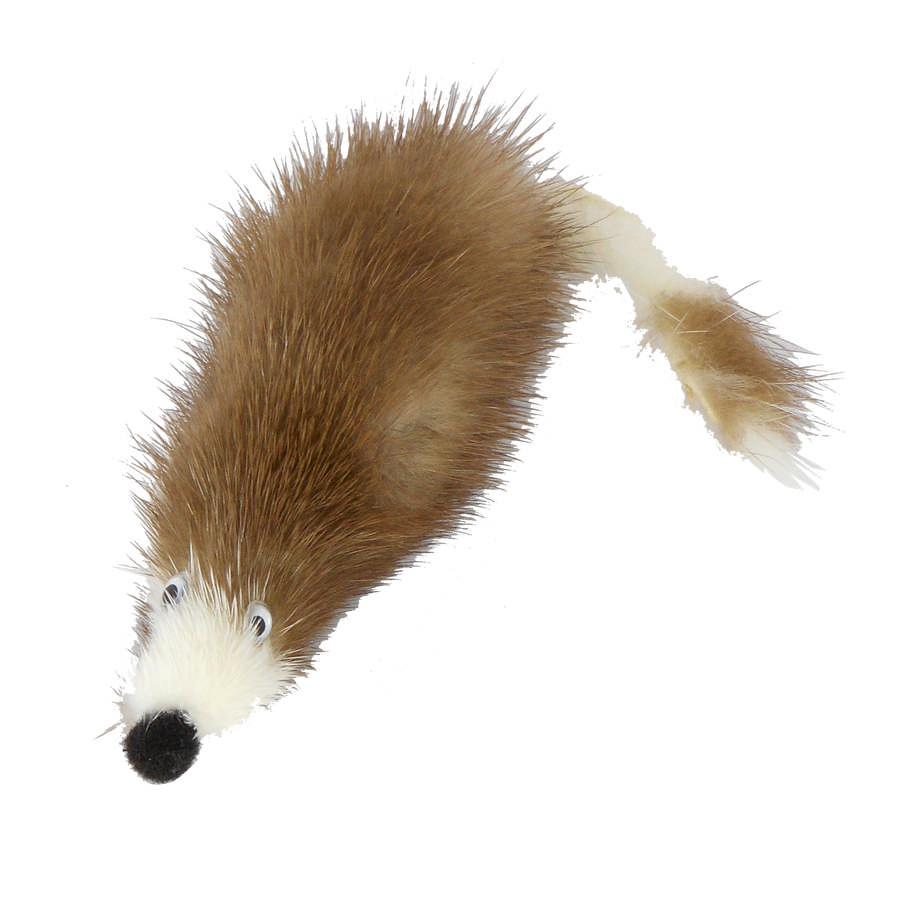 """Игрушка для кошек """"Мышь из меха норки"""", натуральная норка, 5 см, GoSi"""