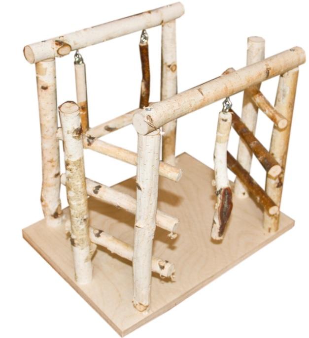 ПарротсЛаб Игровая площадка PL3051 для мелких и средних птиц, 32*24*29 см, ParrotsLab