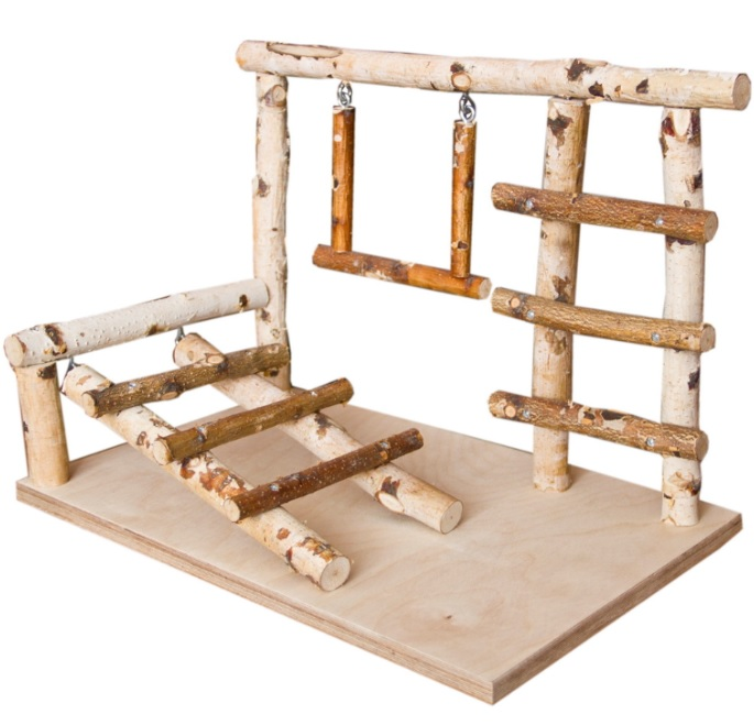 ПарротсЛаб Игровая площадка PL3052 для мелких и средних птиц, 40*25*29 см, ParrotsLab
