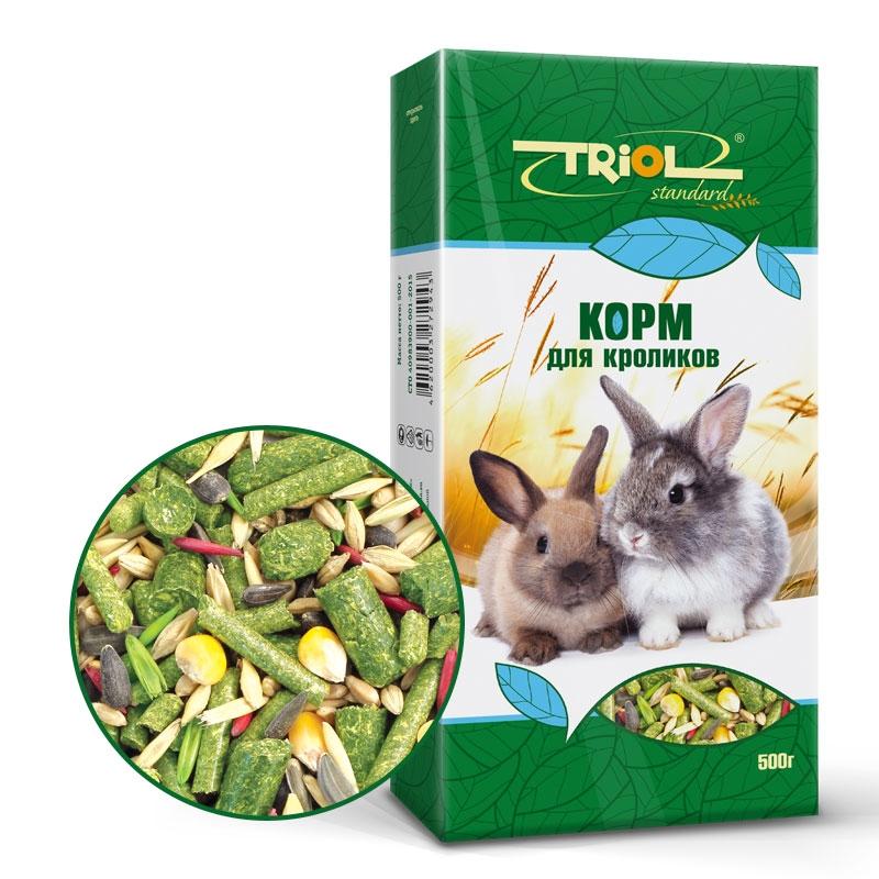 Триол Корм Standart для кроликов, 500 г, Triol