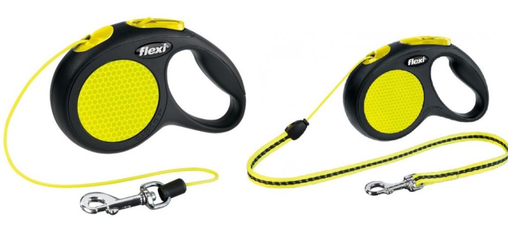 Флекси Рулетка Neon Safety Plus, трос, в ассортименте, Flexi