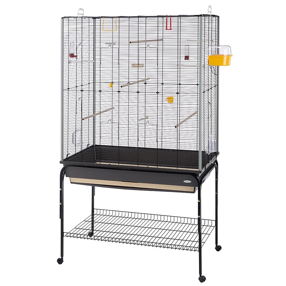 Ферпласт Клетка-вольер Planeta для мелких и средних птиц, на подставке, 97*58*116,5 см, высота с подставкой 173,5 см, Ferplast
