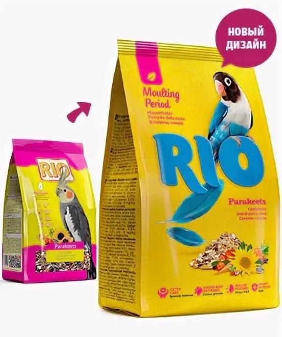 РИО Корм для средних попугаев в период линьки, в ассортименте, Rio