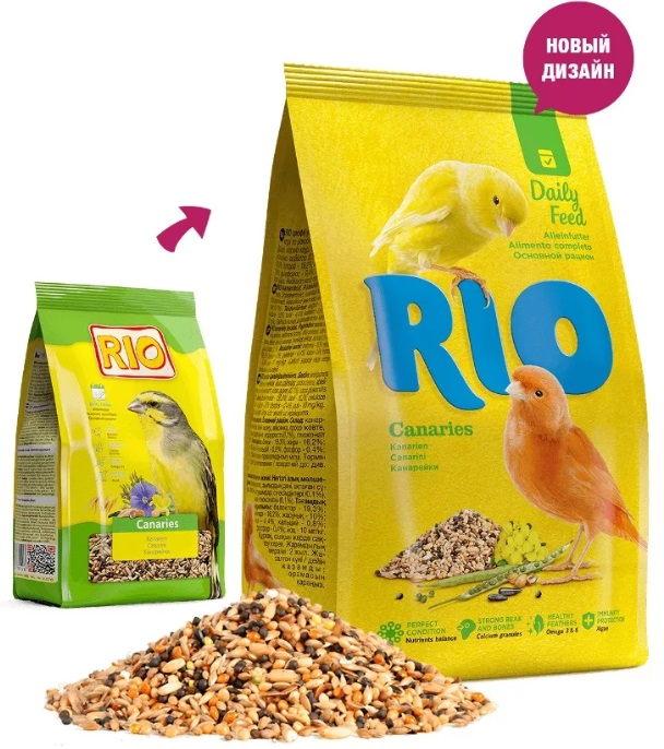 Рио Корм для канареек Основной рацион, в ассортименте, Rio