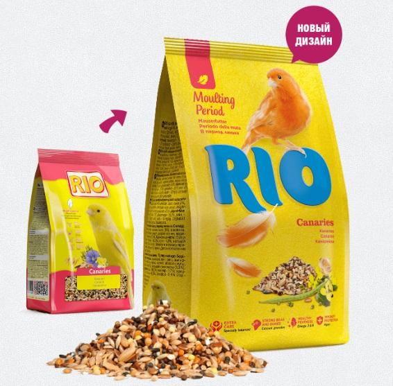 Рио Корм для канареек в период линьки, 500 г, Rio