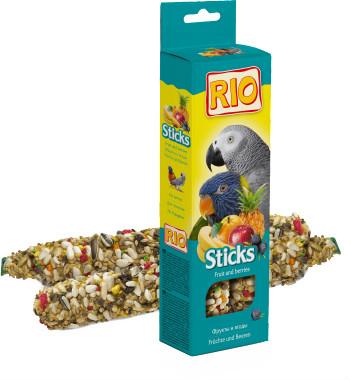 Рио Крекер (палочка на деревянном стержне) для крупных попугаев с фруктами и ягодами, 2*75 г, Rio