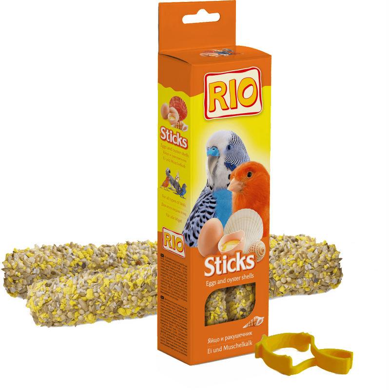Рио Крекер (палочка на деревянном стержне) для всех видов птиц с яйцом и ракушечником, 2*40 г, Rio