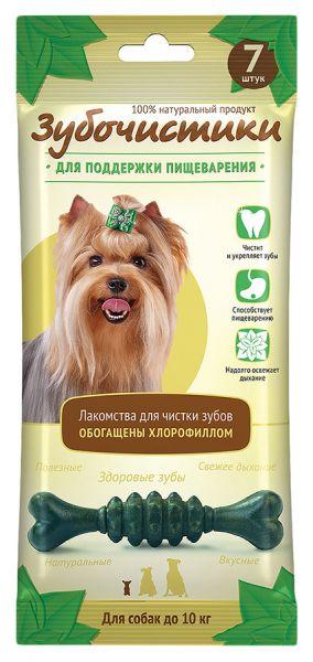 Зубочистики Лакомство для чистки зубов собак, мятные с хлорофиллом, в ассортименте