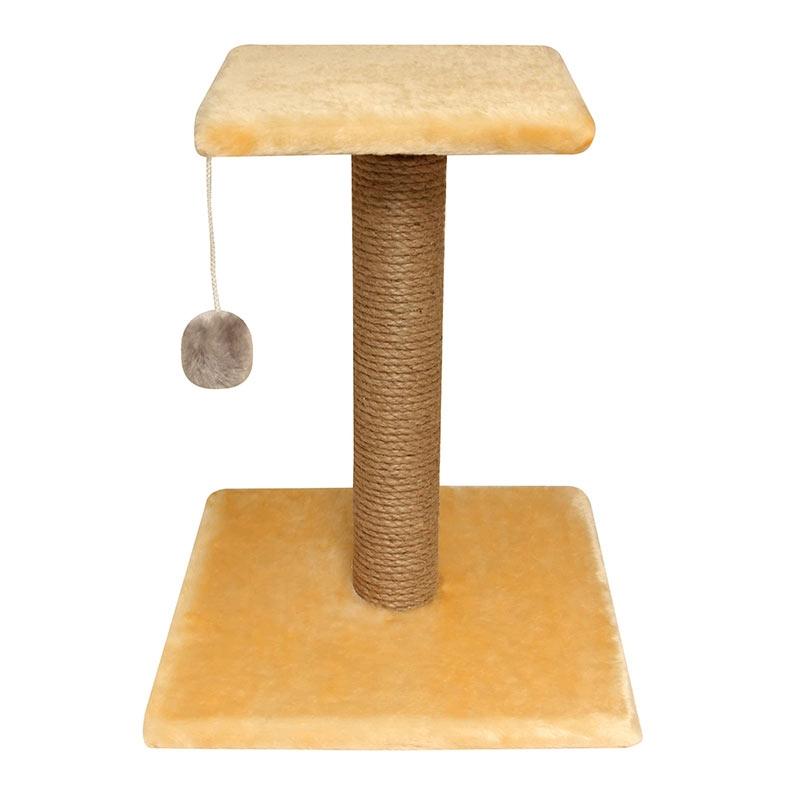Гамма Когтеточка-стойка с полочкой и игрушкой, 36*36*45 см, в ассортименте, джут, Gamma