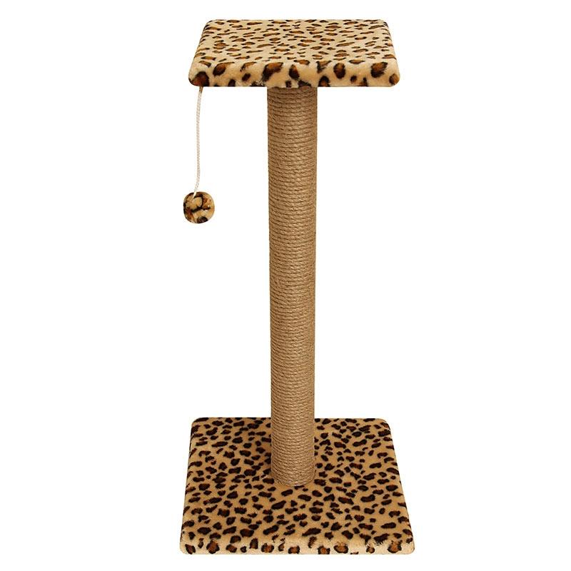 Гамма Когтеточка-стойка с полочкой и игрушкой, 36*36*76 см, джут, в ассортименте, Gamma
