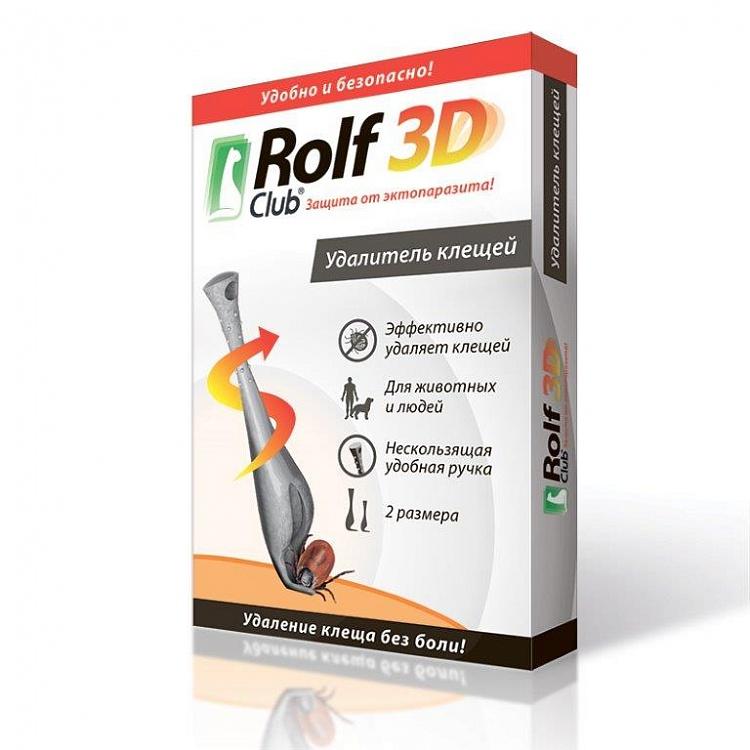 Рольф Клуб Брелок-выкручиватель клещей - приспособление для удаления клещей, 2 шт/уп, Rolf Club