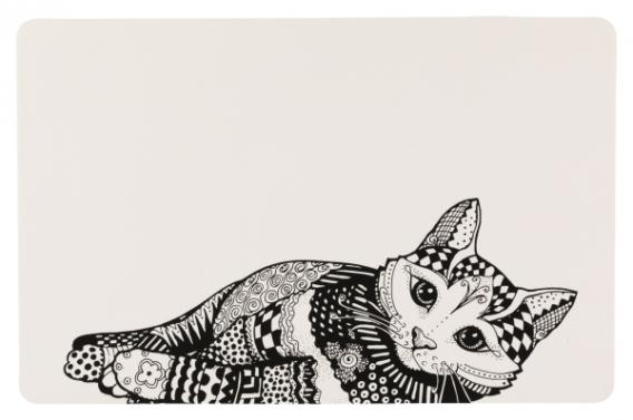 Трикси Коврик под миски Zentangle, 44*28 см, Trixie
