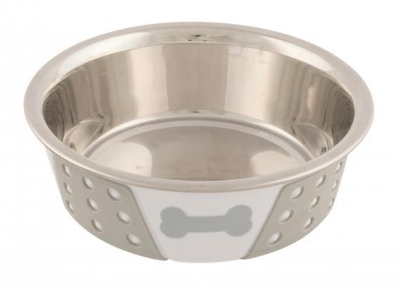 Трикси Миска стальная с пластиковым покрытием для кошек и собак, в ассортименте, Trixie