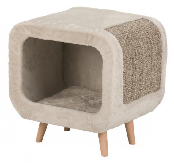 Трикси Когтеточка-домик-пещера для кошки Alicia с ножками из бука, 48*38*48 см, Trixie