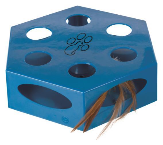 Трикси Игрушка для кошек Turning Feather, пластик, 22 см, синий, Trixie