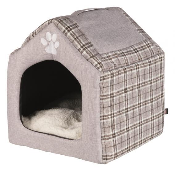 Трикси Домик-пещера Silas для кошек и собак, 40*40*45 см, серый/кремовый, Trixie