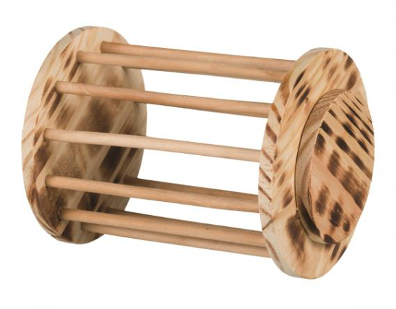 Трикси Кормушка-игрушка для сена и лакомств напольная, обожженное дерево, 15*19 см, Trixie