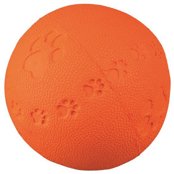 Трикси Мяч из резины с пищалкой (натуральный каучук), в ассортименте, Trixie