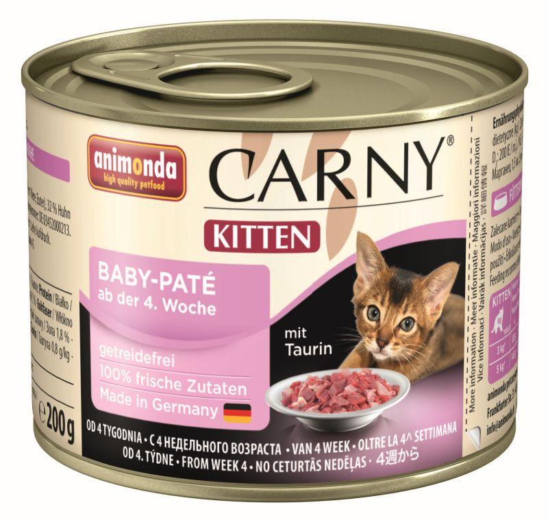 Консервы Анимонда Carny Kitten Baby-Pate паштет для котят, 6*200 г, Animonda