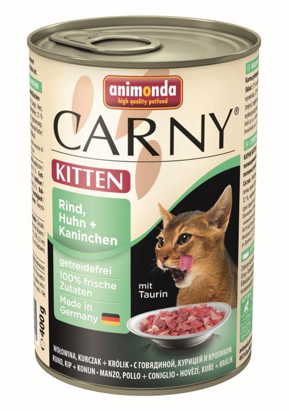 Консервы Анимонда Carny Kitten для котят, в ассортименте, 6*400 г, Animonda