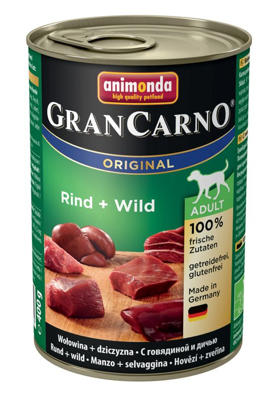 Консервы Анимонда Gran Carno Original Adult для собак, в ассортименте, 6*400 г, Animonda
