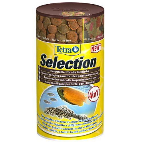 Тетра Корм Selection для всех видов рыб, 4 вида: хлопья/чипсы/гранулы/микс, в ассортименте, Tetra