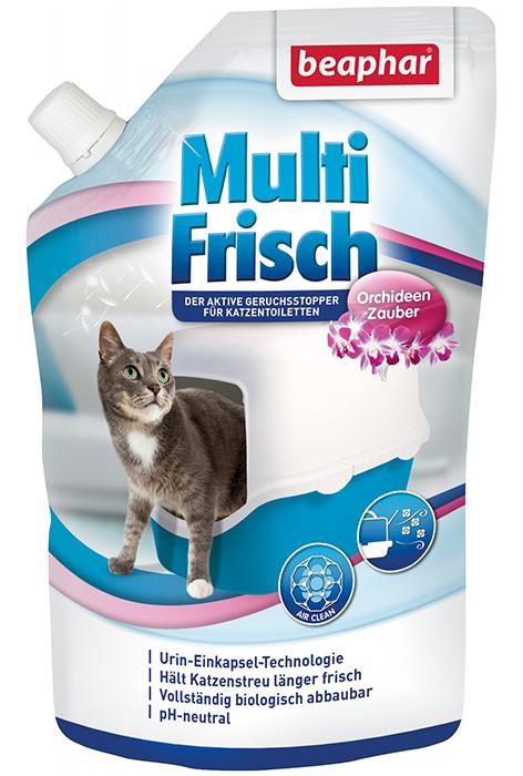 Беафар Сухой уничтожитель запаха Multi Frisch (Odour killer) для кошачьих туалетов с ароматом орхидеи, 400 г, Beaphar