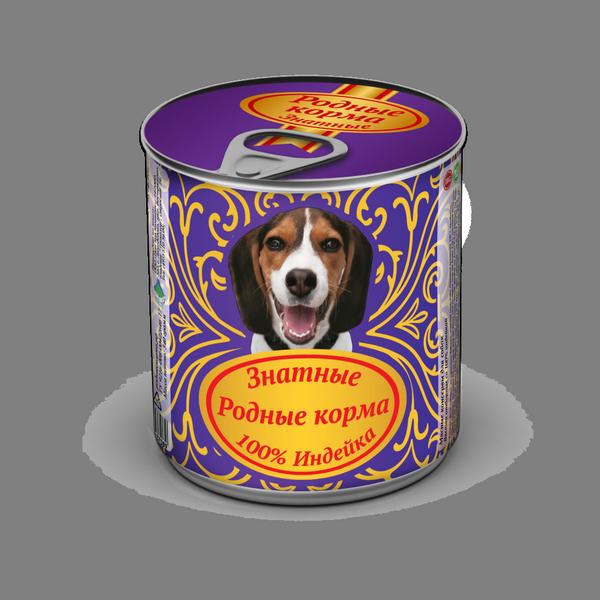 Родные Корма Знатные Консервы из натурального мяса для собак, в ассортименте, 340 г, Родные корма