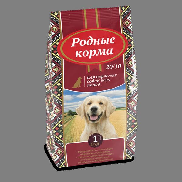 Родные Корма Корм сухой для взрослых собак всех пород, в ассортименте