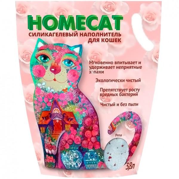 Хоумкэт Силикагелевый наполнитель для кошачьих туалетов, в ассортименте, 3,8 л (1,8 кг), Homecat