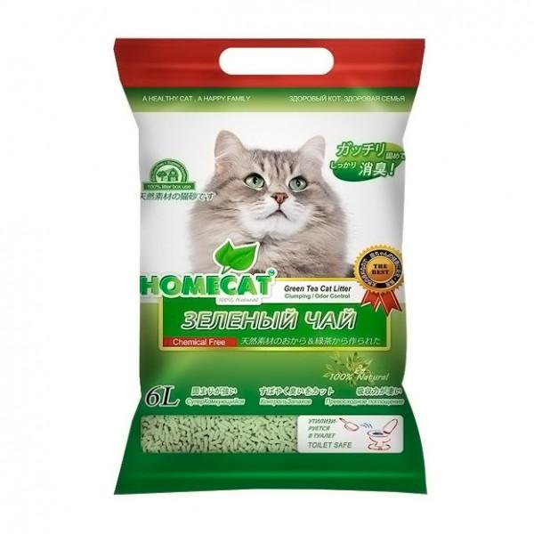 Хоумкэт Комкующийся наполнитель Эколайн, для кошачьих туалетов, в ассортименте, 6 л , Homecat