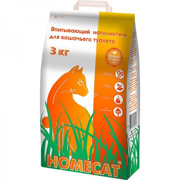 Хоумкэт Впитывающий наполнитель для кошачьих туалетов, 5 л (3 кг), Homecat