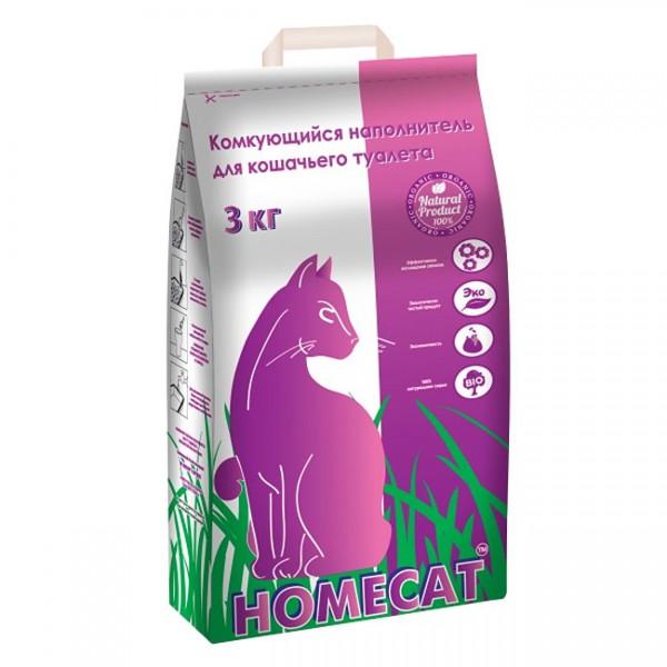 Хоумкэт Комкующийся наполнитель для кошачьих туалетов, в ассортименте, Homecat