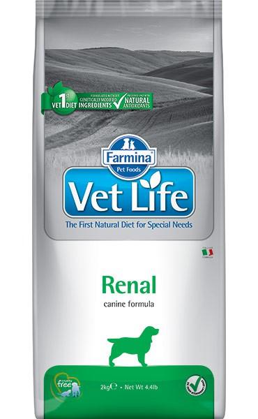Фармина Корм сухой диетический Vet Life для взрослых собак при почечной недостаточности, Renal, в ассортименте, Farmina