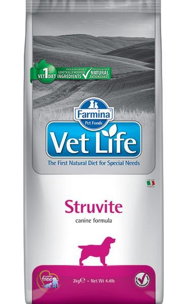 Фармина Корм сухой диетический Vet Life для взрослых собак при мочекаменной болезни, Struvite, в ассортименте, Farmina
