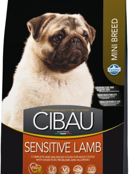 Фармина Корм сухой Cibau Sensitive Lamb для взрослых собак мелких пород, Ягненок, 800 г, Farmina