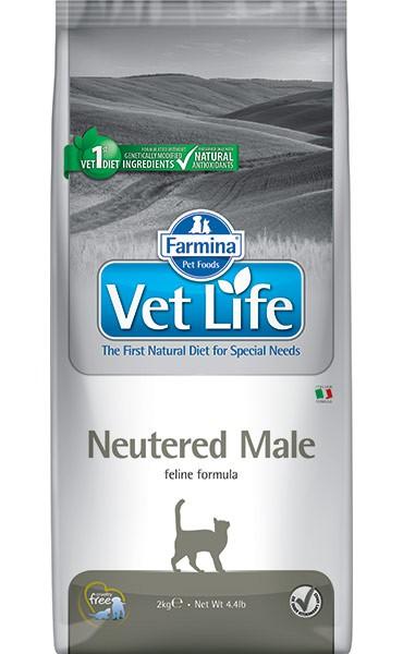 Фармина Корм сухой диетический Vet Life для взрослых кастрированных котов, Neutered Male, в ассортименте, Farmina