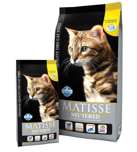 Фармина Корм сухой Matisse Neutered для взрослых кастрированных котов и стерилизованных кошек, в ассортименте, Farmina