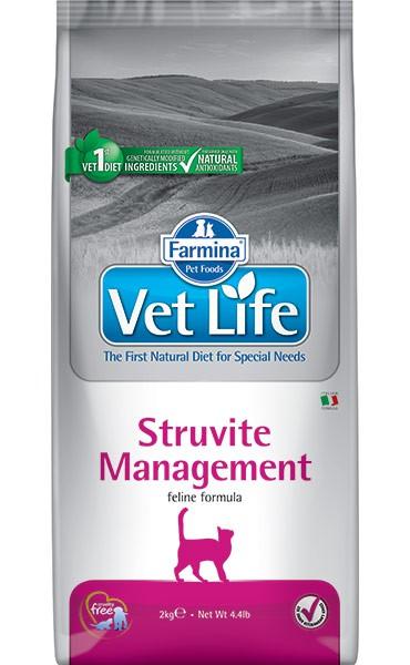 Фармина Корм сухой диетический Vet Life для кошек для лечения и профилактики рецидивов струвитного уролитиаза и идиопатического цистита, Struvite Management, в ассортименте, Farmina
