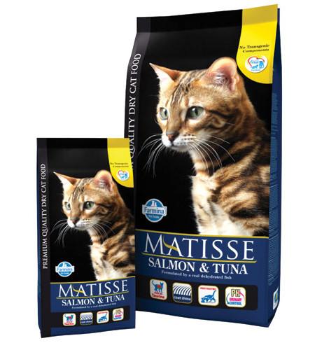 Фармина Корм сухой Matisse для взрослых кошек, Лосось/Тунец, 1,5 кг, Farmina
