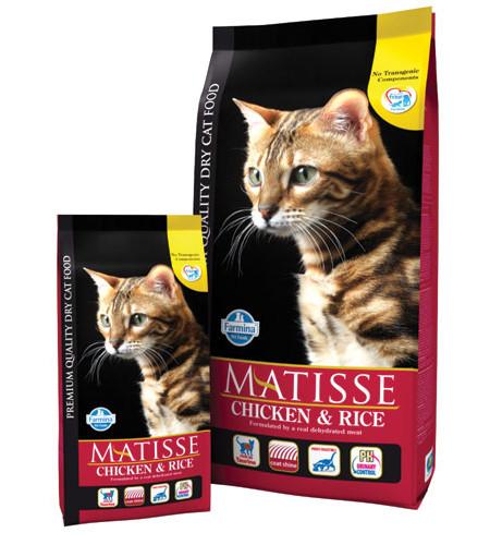 Фармина Корм сухой Matisse для взрослых кошек, Курица/Рис, в ассортименте, Farmina