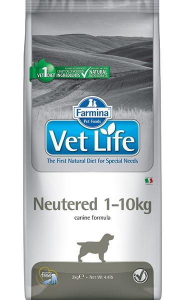 Фармина Корм сухой диетический Vet Life для взрослых стерилизованных собак мелких пород весом до 10 кг, Neutered, 2 кг, Farmina