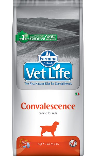 Фармина Корм сухой диетический Vet Life для взрослых собак в период выздоровления, Convalescence, 2 кг, Farmina