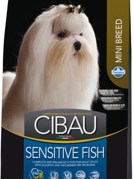 Фармина Корм сухой Cibau для взрослых собак мелких пород, Рыба, в ассортименте, Farmina