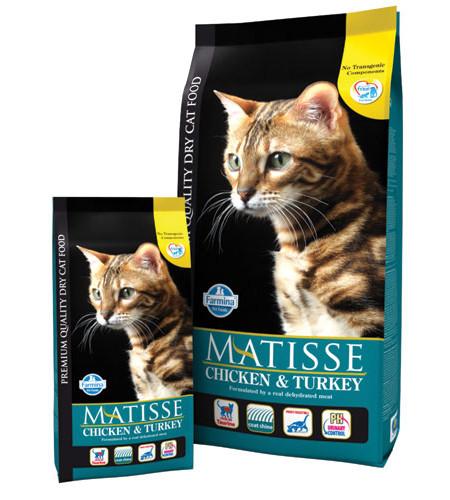 Фармина Корм сухой Matisse для взрослых кошек, Курица/Индейка, в ассортименте, Farmina