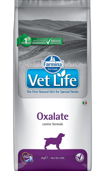 Фармина Корм сухой диетический Vet Life для взрослых собак при мочекаменной болезни уратного, оксалатного и цистинового типа, Oxalate, в ассортименте, Farmina