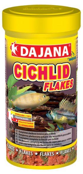 Даяна Корм Cichlid Flakes для рыб семейства цихлид, хлопья, в ассортименте, Dajana