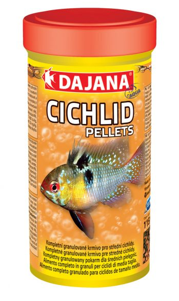 Даяна Корм Cichlid Pellets для рыб семейства цихлид, круглые гранулы, в ассортименте, Dajana