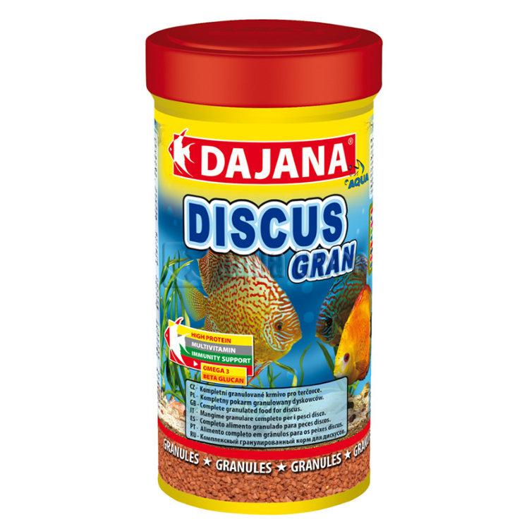 Даяна Корм Discus Gran для рыб семейства дискусов, гранулы, 250 мл / 130 г, Dajana